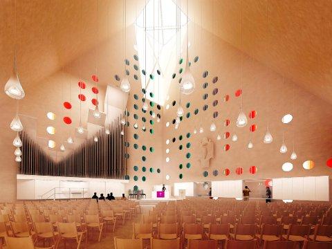 Her er nye Våler kirke innvendig. Er dette et sakralt kirkerom, eller et trendy forsamlingslokale?