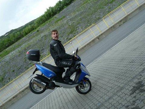 Anders Arntsen, forøvrig ikke på Kawasaki-sykkelen.