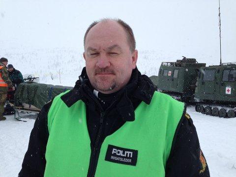 Politiets innsatsleder i Tromdalen på Senja Bjørn Georg Pedersen.