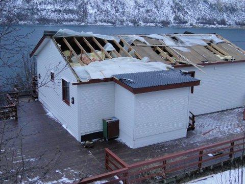 Store skader på taket.