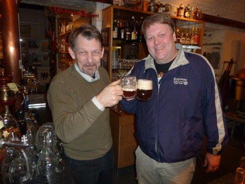TREDOBLER: Wiggo Slåttsveen og Kjell Stenberg tredobler kapasiteten ved mikrobryggeriet  Lillehammer Bryggeri i 2014.