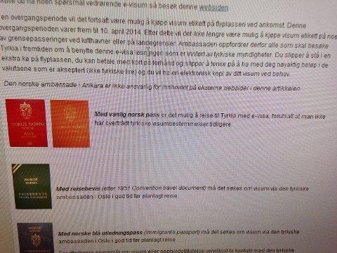 Denne skjermdumpen tok Oddvar Brekke fra landsider.no denne uken. Nå er det oransje passet flyttet og url-en til denne siden slettet.