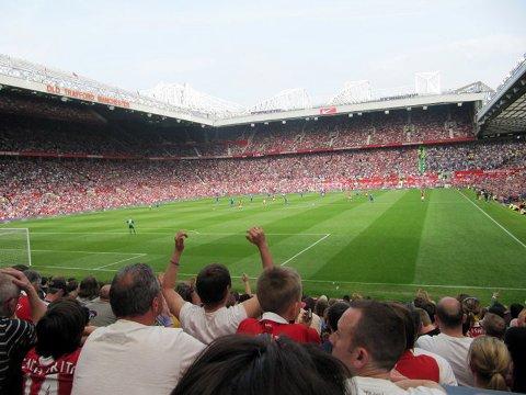 Fullsatt Old Trafford Manchester United mot Everton