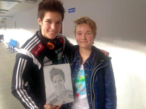 Anja Hammerseng-Edin og 14 år gamle Adrianna Lachtara