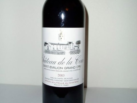 Nr 14503 Chateau de la Cour Grand Cru 2003
