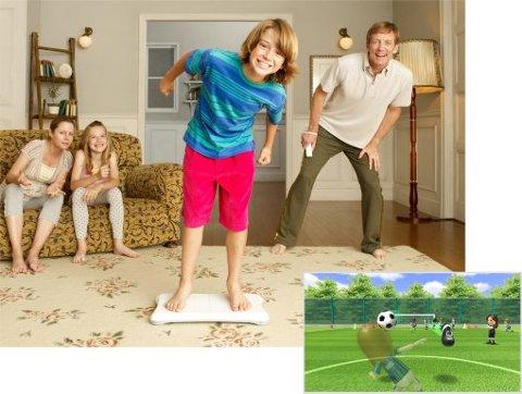Hele familien kan være med å leke seg med «Wii Fit», en krysning av et treningsprogram og spill. «Badevekta» som følger med er solid, og tåler 150 kilo.