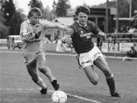 Holdt stilen: KIL spilte 13 kamper på rad uten tap i 1987. Her er Kjetil Sagen i aksjon. Foto: Tormod Brenna