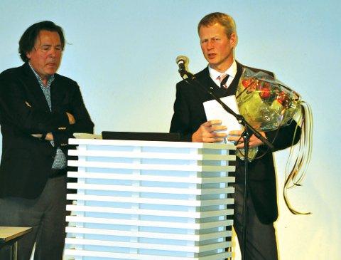 Terje Bodin Larsen og Knut Benjamin Aall. foto: Skibsaksjeselskapet Hesvik