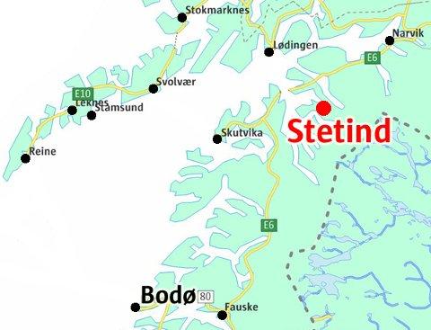 stetind kart Avisa Nordland   Svenske fjellklatrere berget ned fra Stetind stetind kart