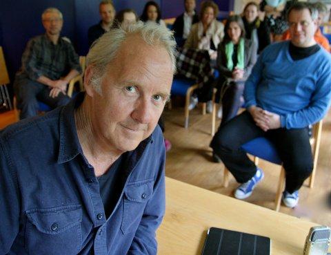 FRA KON-TIKI TIL DEN TOLVTE MANN: Petter Skavland holdt forelesning om Kon-Tiki-suksessen på SOURCES manus-workshop på FilmCamp, og slapp nyheten om sitt nye filmprosjekt i går.
