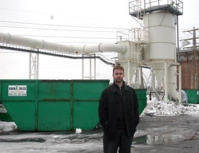 RENOVATØR: Morten Stene i Smelteverket Eiendom  har fått den nye renovatøren Ragn-Sells til å etablere seg i næringsparken i det nedlagte smelteverket.