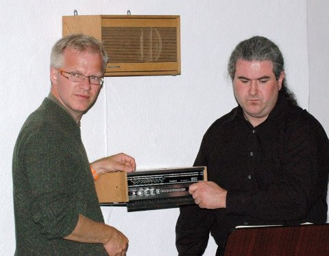Øyvind Gimse, cellist i TrondheimSolistene og Lars Nicolaysen, trommeslager og medlem av flere band i Bodø