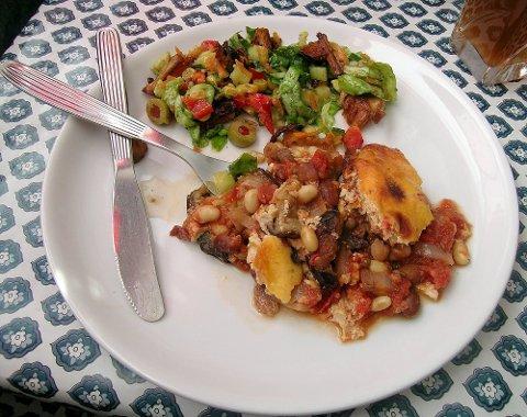 VEGETARMAT:  Dagen i dag er verdens vegetarmatdag. Bildet viser vegetarmoussaka. (Arkivfoto: Eldbjørg Fagerjord)