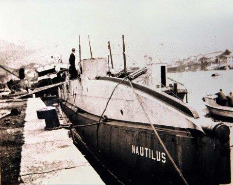 Slik så «Nautilus» ut etter ombyggingen i Philadelphia våren 1931. Samme høst ble ubåten senket i Byfjorden.