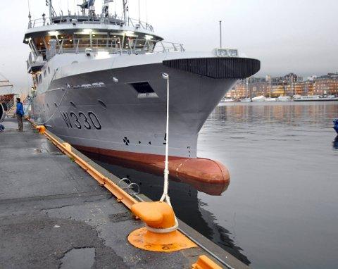 Det er kystvaktskipet Nornen som har gått på grunn ved Jomfruland.
