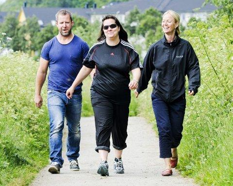 Trening ? bli frisk prosjekt ? trener for bedre helse  Trimmeren heter Ingunn Dagsloth, så er det Gøran Raade Andersen og Beate Enæs-Hanssen