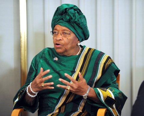 Liberias president Ellen Johnson-Sirleaf.