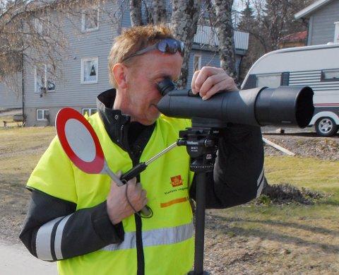 Hallvard Kvenseth i Statens vegvesen. Kontroll. (Illustrasjonsfoto)