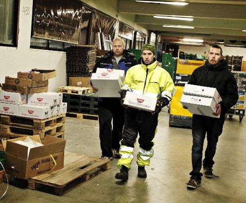 MUSKETERENE: Prosjektet i Tromsø som går under navnet Musketerene gjør en viktig miljøjobb. De henter matvarer med kort holdbarhet som etterpå deles ut til de som trenger det. Foto: Vidar Dons Lindrupsen