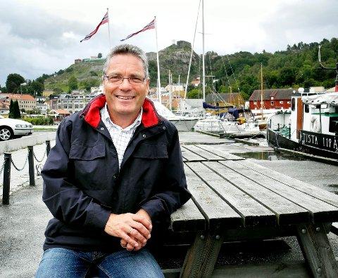Ordfører Thor Edquist har stor tro på at det finnes unge gründere og lederemner i Halden som kan nå opp i konkurransen om å bli «Helt Sjef» i Norge. Arkivbilde.