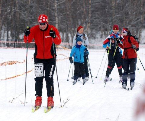 Ole Martin Monsen Solberg fra Mo Skilag (nr. 777) var en av rundt 1.150 deltakere som gikk Blåvegen.