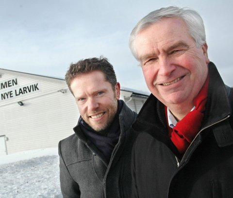 Blir ledige: Finn Øivind Gabrielsen (t.v.) og Per Bjønnes Kristiansen må finne seg et nytt parti når Larvikslista legges ned etter valget til høsten.