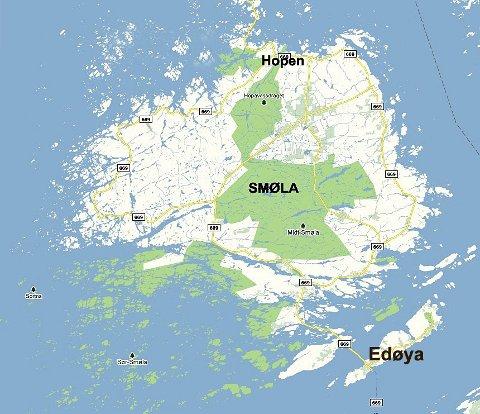 smøla kart Tidens Krav   Påskesykling på Smøla smøla kart