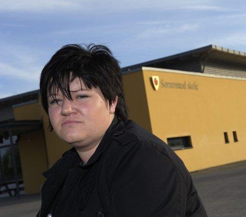 ? TRAUMATISK: Line Moe er i harnisk over at en ansatt ved SFO på Sørumsand skole skal ha stengt sønnen hennes alene inne i over en time. FOTO: GEIR EGIL SKOG