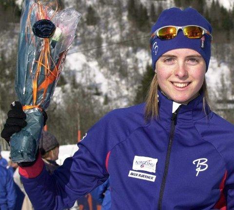 VENTET MESTER: Julie Bonnevie-Svendsen fra Nittedal innfridde favorittstemplet i gårsdagens junior-NM i skiskyting. FOTO: RUNE HELLE