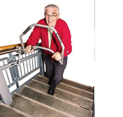 Innovasjon Norge støtter utviklingen av trappehjelperen som nå blant annet skal lanseres i Tyskland.