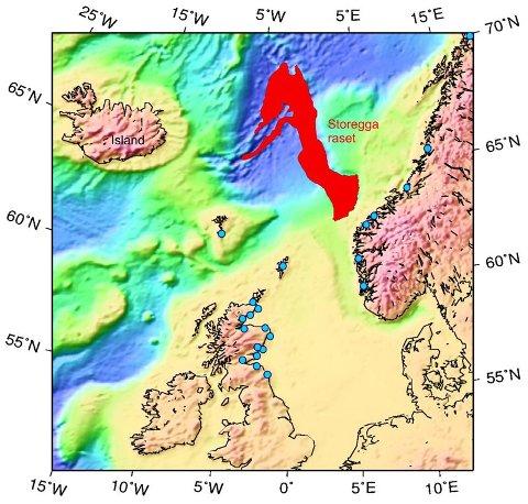 Det undersjøiske Storegga-raset var på størrelse med dagens Danmark. (