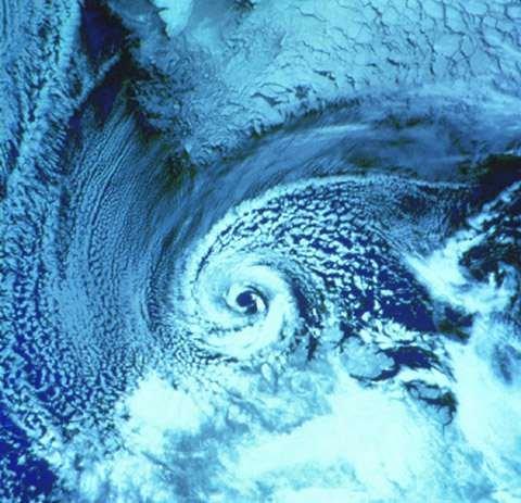 Polart lavtrykk over Barentshavet, 27. februar 1987. (Illustrasjonsfoto)