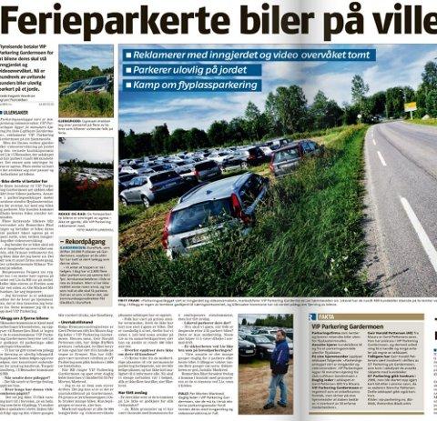 PÅ VILLE VEIER: Romerikes Blad 16. juli 2011.