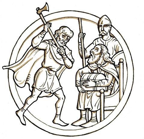 Torkjell Klypp Tordsson, høvding i Hordaland, dreper kong Sigurd Sleva Eiriksson etter at kongen har voldtatt konen hans.