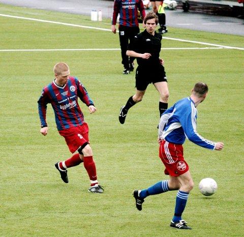 Peder Edvard Korsbøen var Moingens beste da de slo Drammen FK i en thriller av en kamp i 4. divisjon mandag kveld.