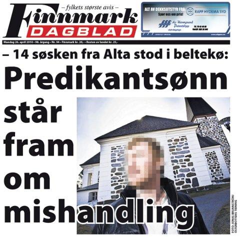 Finnmark Dagblad mandag 26. april.