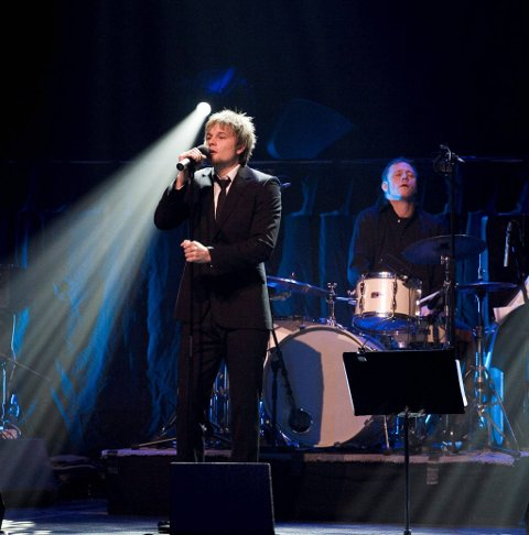 Gaute Ormåsen avlegger Gjøvik et besøk for å delta på støttekonserten. Arkivbilde
