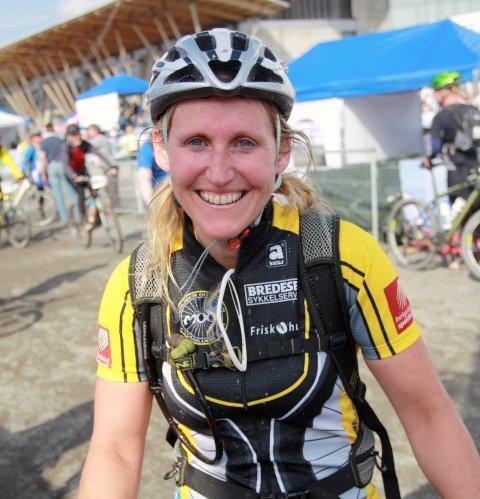 I MÅL: Inger Kristin Haugen hadde grunn til å smile etter at hun hadde gått i mål i Birkebeinerrittet for første gang.   (Foto: Svein Halvor Moe)