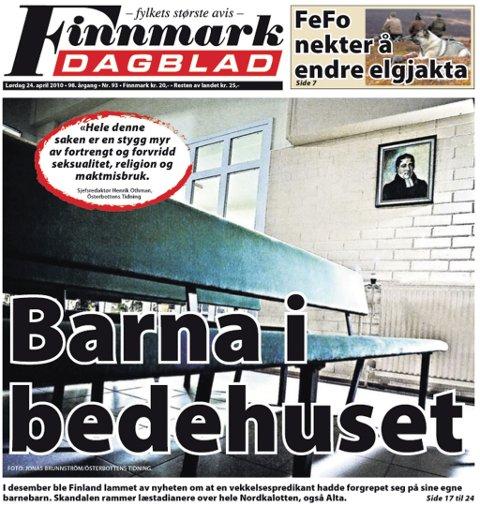Finnmark Dagblad lørdag 24. april.