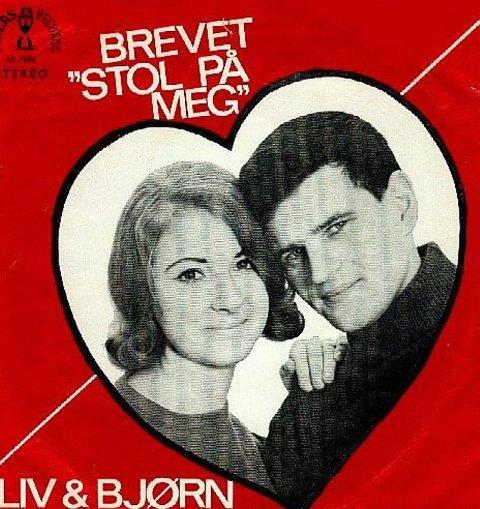 """DEBUTPLATE: Den første plata, """"Brevet"""", ga Liv og Bjørn ut allerede i 1967."""