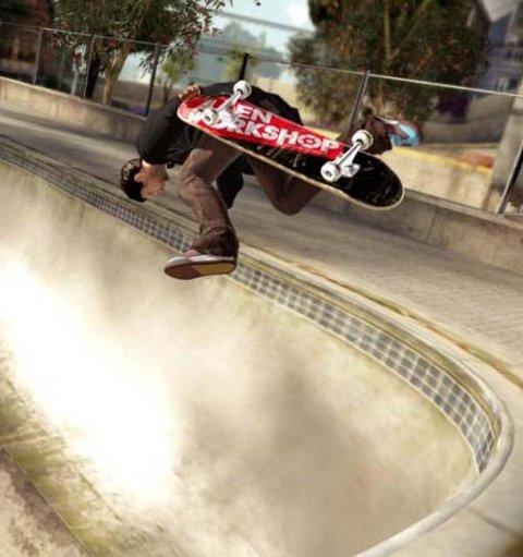 VILLE STUNT: Det er kome til mange nye triks i Skate 2.