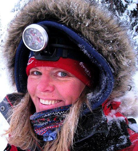 FORNØYD: Nina Skramstad fra Brandbu var fornøyd med femteplassen i Finnmarksløpet.