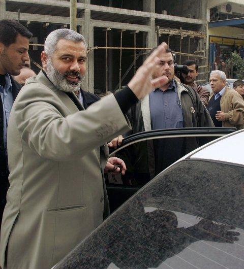 Palestinernes nye statsminister, Ismail Haniyeh.