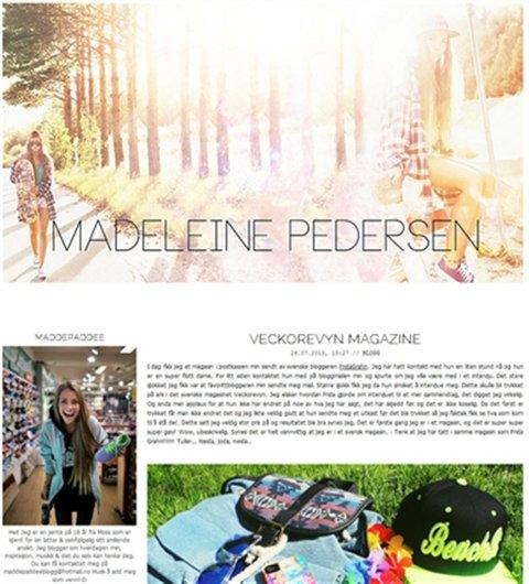 I blogg: Madeleine «Maddepaddee» skrev støtte til Andrea Gjeldnes.