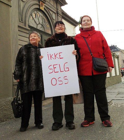 Fra venstre: Judith Skjerpen, Anne Mette Kristiansen og Mai-Lis Lillestøl.