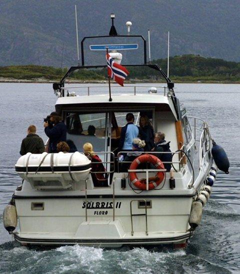 MS SOLBRIS II: Leidulf Grytten sin skyssbåt er no oppkjøpt av Stadt Sjøtransport AS. Den vil framleis operere i mellom Flora og Bremanger. Arkiv