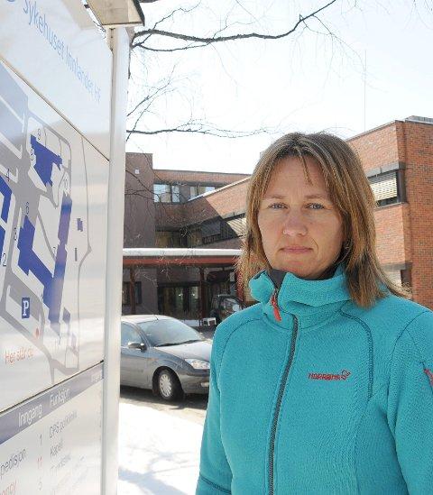 - Tynset holder mål: Varaordfører og sjukepleier ved sjukehuset på Tynset, Merete Myhre Moen, er sterkt uenig med helseminister Bent Høie.  (Arkivfoto)