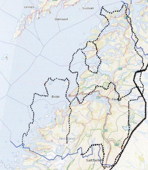 kart over salten Avisa Nordland   Derfor vil han ha én kommune i Salten