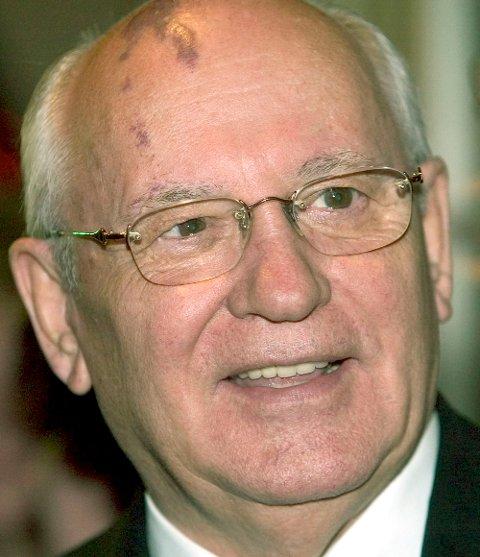 Tidligere president i Sovjetunionen, Mikhail Gorbatsjov.