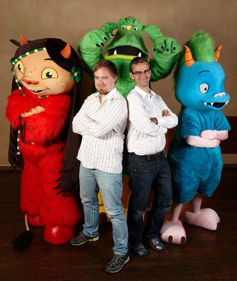 Opphavsmennene: Endre Lund Eriksen fra Bodø (bosatt i Tromsø) og Endre Skandfer fra Harstad har skapt Dunderly-universet. De har gitt ut bøker, brettspill, aktivitetsbøker og CD med de morsomme karakterene. Nå blir det film!